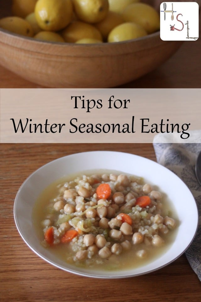 Use these tips for winter seasonal eating to make delicious, frugal, and nutritious meals from what's in-season and available.