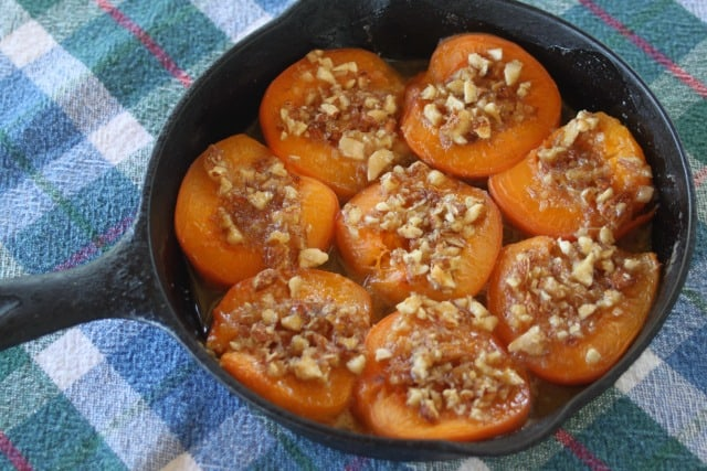 Baked apricots for summer seasonal eating.