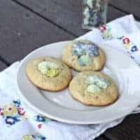 Infused Vinegar Pansy Cookies
