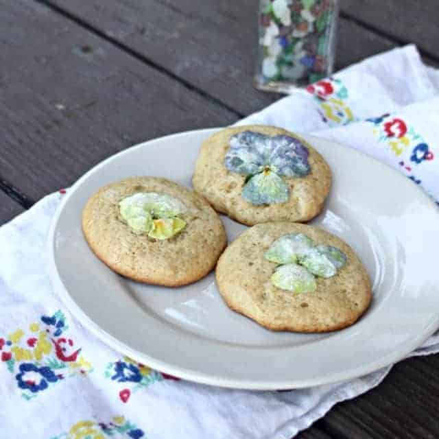 Infused Vinegar Pansy Cookies