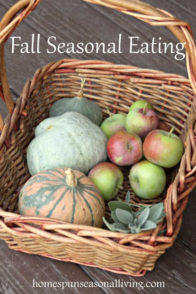 Enjoy local and fresh foods with this guide to fall seasonal eating that includes a list of in-season produce and tips for meal planning.