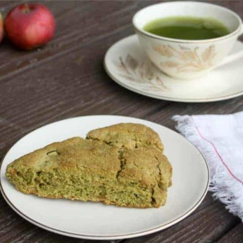 Fuel a busy morning with a breakfast full of nourishing and delicious flavor with these easy to whip up matcha apple scones.