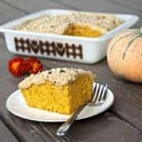 Pumpkin Cake with Cinnamon Coffee Frosting