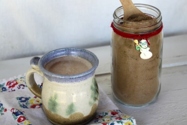 Mix up a homemade matcha hot cocoa mix for a quick treat full of simple, whole food ingredients you can feel good about drinking and giving away as a gift.
