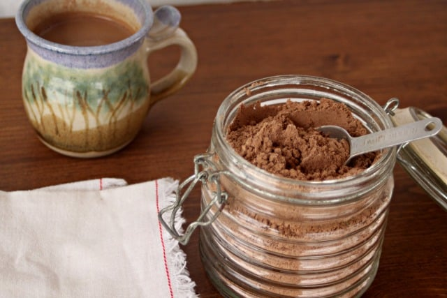 Homemade cocoa mix is a frugal, and easy way to spread cheer and give meaningful gifts any time of year but especially so when the temperature dips.
