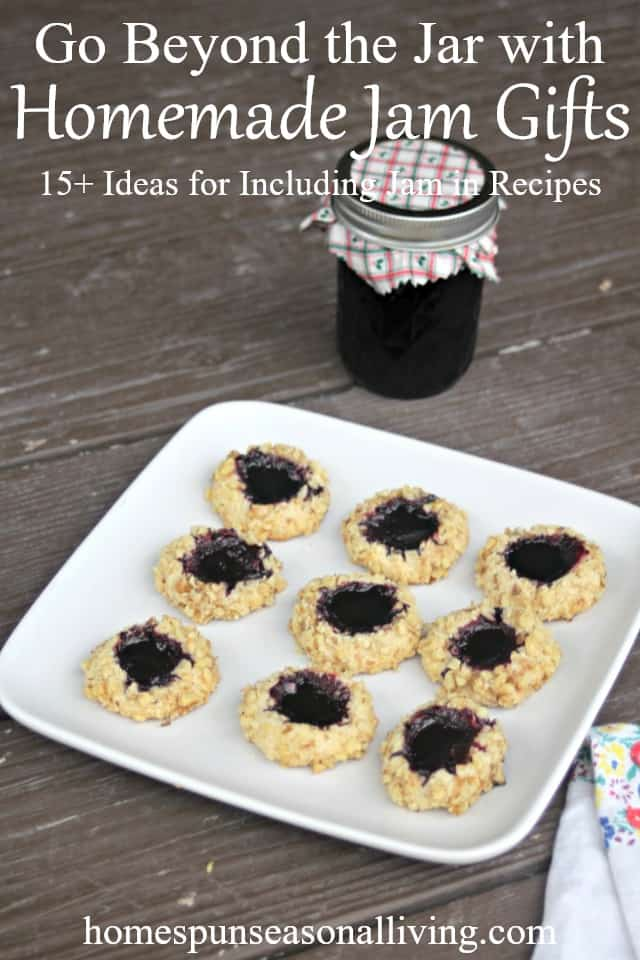 All those jars of homemade jellies make for great gifts both when given in the jar and when included in homemade jam gifts like cookies, scones, and more.