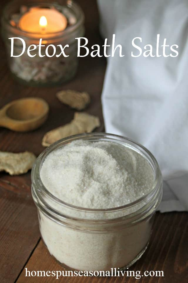 Flush the body of colds and toxins while also relaxing in a warm tub with these simple DIY detoxifying bath salts. Use simple and natural ingredients that are likely already in your pantry for a healing bath experience.