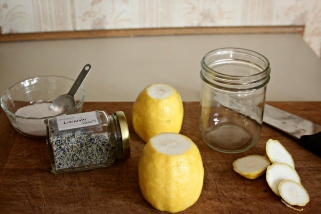 Make lavender preserved lemons for an easy and delicious way to preserve seasonal citrus for a pantry staple that adds bright and intense flavor to many savory dishes.