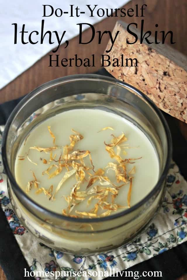 Itchy Skin Herbal Balm on table photograph
