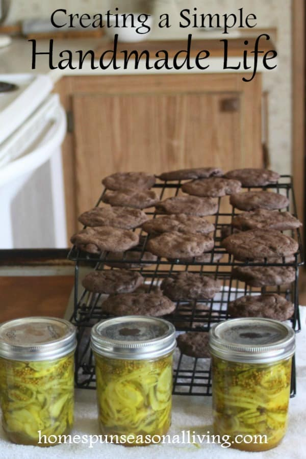 Creating a handmade life with pickles and cookies.