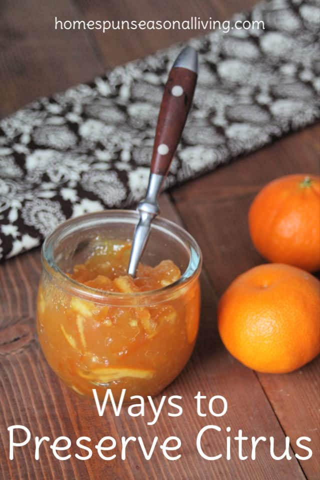 A spoon in a jar of marmalade surrounded by fresh oranges.