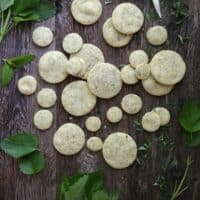 Summertime Tea with Lemon  Balm Shortbread