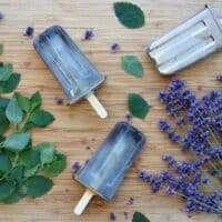 Herbal Popsicles with Lavender and Lemon Balm