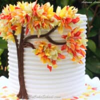 Autumn Leaves in Chocolate~ Blog Tutorial