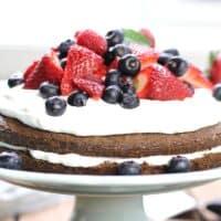 Beautiful Brownie Strawberry Shortcake