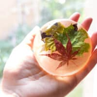 DIY Leafy Resin Paperweight