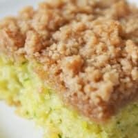 Easy Zucchini Crumb Cake Recipe