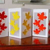 DIY Fall Leaf Paper Lanterns made with a Cricut