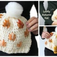 Crochet Leaf Stitch Beanie