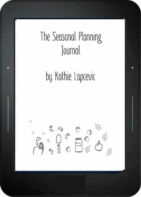 An ereader with the Seasonal Planning Journal cover page displayed.