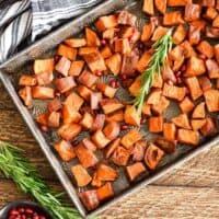 Maple Cinnamon Roasted Sweet Potatoes Recipe