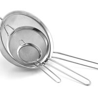 Set of 3 Fine Mesh Stainless Steel Strainers