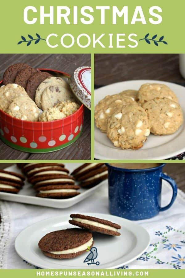 A collage of homemade Christmas cookie photos with text overlay.