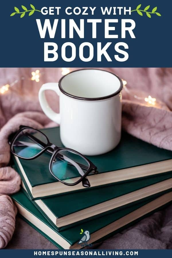 A stack of books with eyeglasses and coffee mug sitting on top.