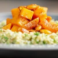 Simple Vegetarian Butternut Squash Tagine with Apricots