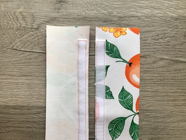 Velcro sewn on wrong and right sides of oilcloth