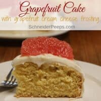 Fresh Grapefruit Cake - a simple recipe for citrus season