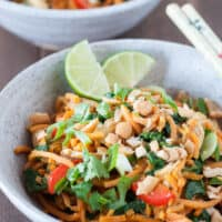 Thai Chicken & Sweet Potato Noodle Bowls