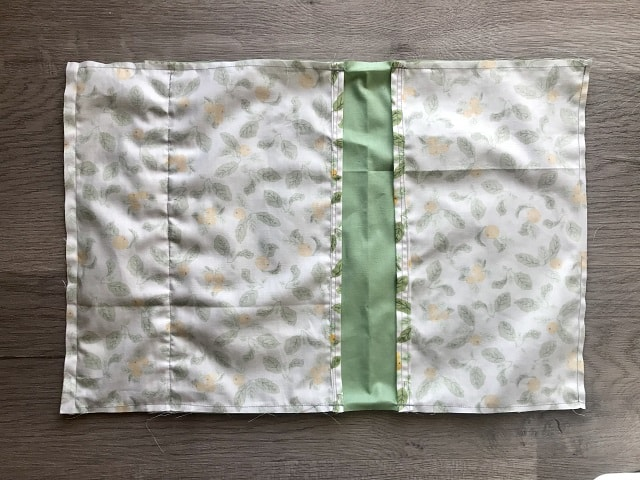 Clothespin bag sewn together inside out