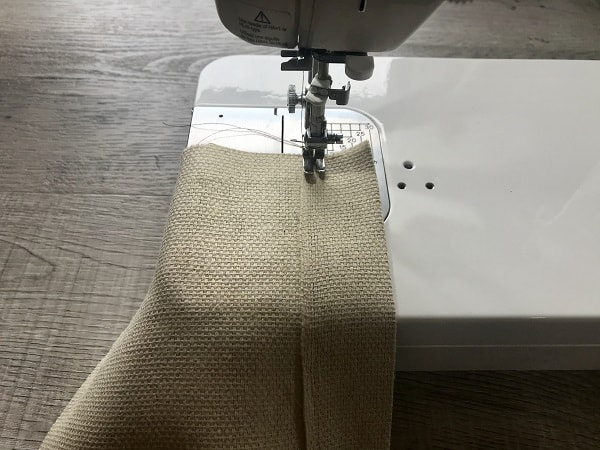 Sewing machine sewing pocket top down 1.5""